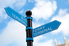 Travel Terminal Sign Royalty Free Stock Photos