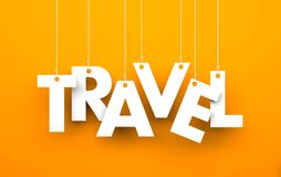 Travel. Text on the string Stock Photography