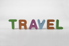 Travel text. On the white background Royalty Free Stock Image