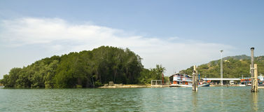 Travel in Thai island by boat stock image