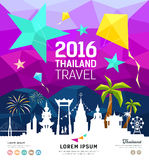 Travel Thailand new year with silhouette landmark Stock Image