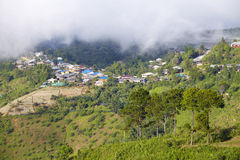 Travel in thailand. Thai village on hill in winter Stock Images