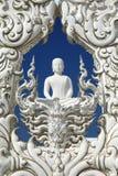 Travel in thailand. White buddha on blue sky Royalty Free Stock Photos