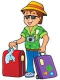 Travel thematics image 1 royalty free illustration