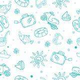Travel theme seamless pattern vector illustration
