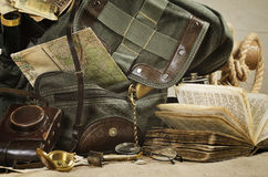 Travel theme still life Royalty Free Stock Images