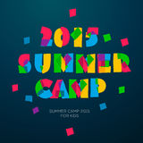 Travel themed Summer Camp poster Royalty Free Stock Images