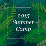Travel themed Summer Camp poster Royalty Free Stock Photo