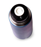 Travel thermos for hot drinks Stock Image