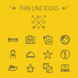 Travel thin line icon set Stock Images