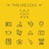 Travel thin line icon set Royalty Free Stock Photo