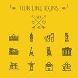 Travel thin line icon set Royalty Free Stock Photography
