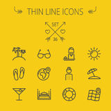 Travel thin line icon set Royalty Free Stock Images