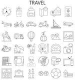 Travel thin line icons set stock illustration