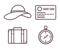 Travel time design. Travel time related icons over white background. vector illustration Stock Photos