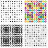 100 travel time icons set vector variant. 100 travel time icons set vector in 4 variant for any web design isolated on white Royalty Free Stock Photography