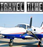 Travel Time plane Royalty Free Stock Photo