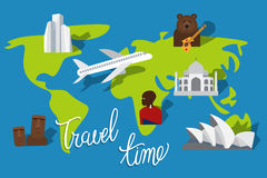 Travel time vacation Stock Images