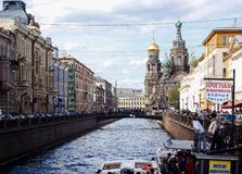 Going to Saint-Petersburg royalty free stock photo