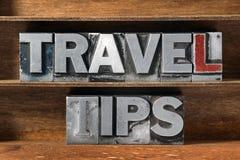 Travel tips tray Royalty Free Stock Image