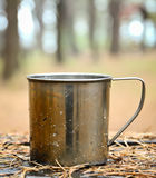 Travel titanium cup Royalty Free Stock Photo