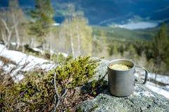 Travel titanium cup Stock Images