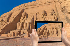 Travel to Abu Simbel Temple ( Egypt) Royalty Free Stock Photography