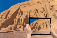 Travel to Abu Simbel Temple ( Egypt) Royalty Free Stock Photography