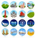 Travel to Asia, Australia. royalty free illustration
