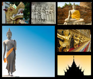 Travel to Asia collage Stock Image