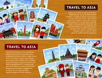 Travel to asian countries. stock illustration