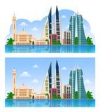 Travel to Bahrain. Manama. vector illustration