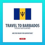 Travel to Barbados. Discover and explore new countries. Adventure trip. Stock Images