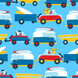 Travel to the beach seamless pattern Royalty Free Stock Photography
