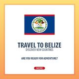 Travel to Belize. Discover and explore new countries. Adventure trip. Royalty Free Stock Photography