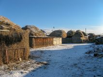 Travel to Border of Russia and Kazakhstan stock images