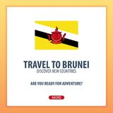 Travel to Brunei. Discover and explore new countries. Adventure trip. Stock Photography