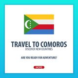 Travel to Comoros. Discover and explore new countries. Adventure trip. Royalty Free Stock Photos