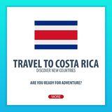 Travel to Costa Rica. Discover and explore new countries. Adventure trip. Stock Image