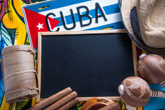 Travel to Cuba concept background Royalty Free Stock Images