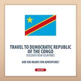 Travel to DemocraticRepublic of the Congo. Discover and explore new countries. Adventure trip. Stock Image