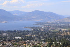 Travel to destination lake and wine country in Canada. Royalty Free Stock Photos