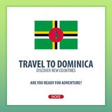 Travel to Dominica. Discover and explore new countries. Adventure trip. Stock Photos