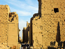 Travel to Egypt, Luxor. Travel to North Africa, Egypt, Luxor Temple Royalty Free Stock Photos