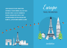 Travel to Europe for christmas. Merry Christmas Royalty Free Stock Photo