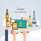 Travel to Europe for christmas. Merry Christmas Stock Images