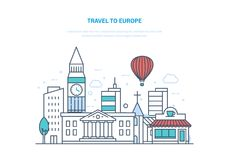 Travel to europe. Holding vacation, holidays, summer in Europe, relaxing. Stock Images