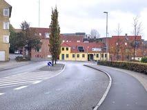 Autumn in the Skive, Denmark. Travel to the Europe under Autumn, Skive in Denmark. Scandinavia`s travel destination Stock Photos