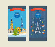 Travel to Europe for winter. Merry Christmas Stock Photography