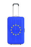Travel to European Union concep. Suitcase with European Union fl Stock Images